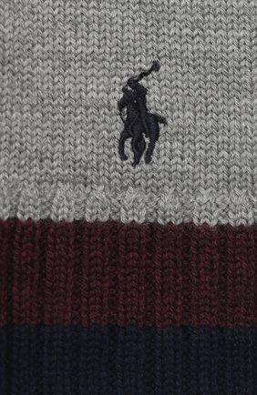 Детский шерстяной шарф POLO RALPH LAUREN серого цвета, арт. 323751652 | Фото 2