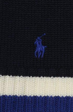 Детский шерстяной шарф POLO RALPH LAUREN темно-синего цвета, арт. 322751652 | Фото 2