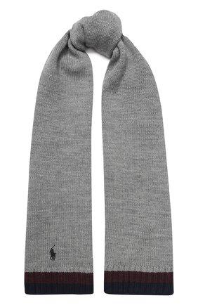 Детский шерстяной шарф POLO RALPH LAUREN серого цвета, арт. 322751652 | Фото 1