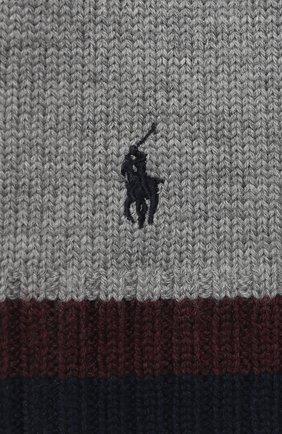 Детский шерстяной шарф POLO RALPH LAUREN серого цвета, арт. 322751652 | Фото 2