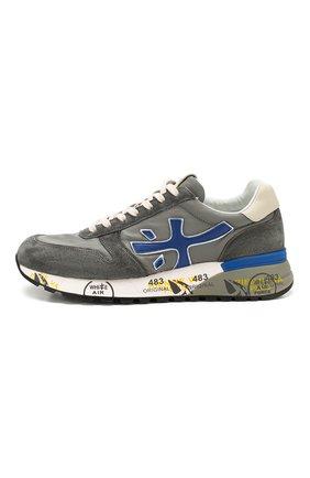 Мужские комбинированные кроссовки mick PREMIATA серого цвета, арт. MICK/VAR4563 | Фото 3