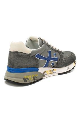Мужские комбинированные кроссовки mick PREMIATA серого цвета, арт. MICK/VAR4563 | Фото 4