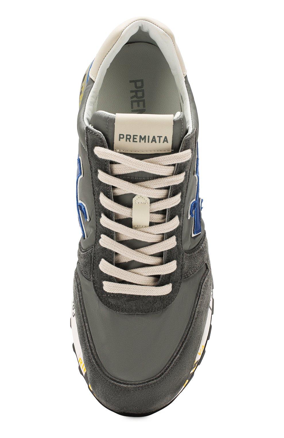 Мужские комбинированные кроссовки mick PREMIATA серого цвета, арт. MICK/VAR4563 | Фото 5