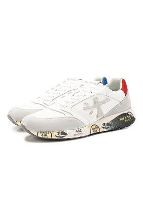 Мужские комбинированные кроссовки zac-zac PREMIATA белого цвета, арт. ZAC-ZAC/VAR4555 | Фото 1