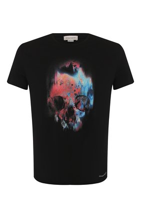 Мужская хлопковая футболка ALEXANDER MCQUEEN черного цвета, арт. 595650/Q0Z60 | Фото 1