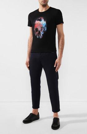 Мужская хлопковая футболка ALEXANDER MCQUEEN черного цвета, арт. 595650/Q0Z60 | Фото 2