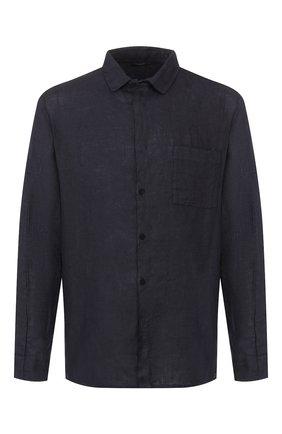 Мужская льняная рубашка TRANSIT темно-синего цвета, арт. CFUTRKT295   Фото 1