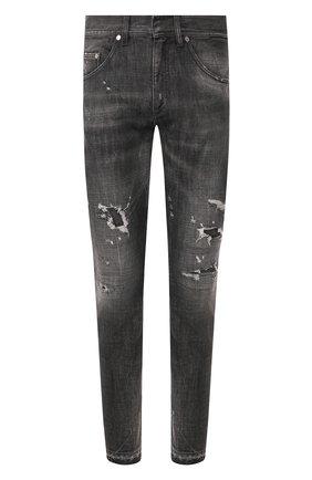 Мужские джинсы NEIL BARRETT серого цвета, арт. PBDE285/N802T | Фото 1