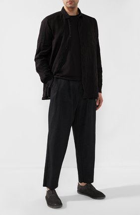 Мужской замшевые дерби MARSELL серого цвета, арт. MMG002/PELLE R0VESCI0   Фото 2