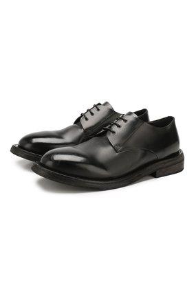 Мужской кожаные дерби MARSELL черного цвета, арт. MM2350/PELLE VITELL0 | Фото 1
