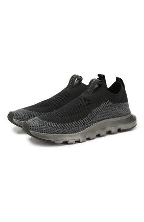 Мужские текстильные кроссовки Z ZEGNA черного цвета, арт. A4413X-LHSTE | Фото 1