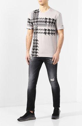 Мужские текстильные кроссовки Z ZEGNA черного цвета, арт. A4413X-LHSTE | Фото 2