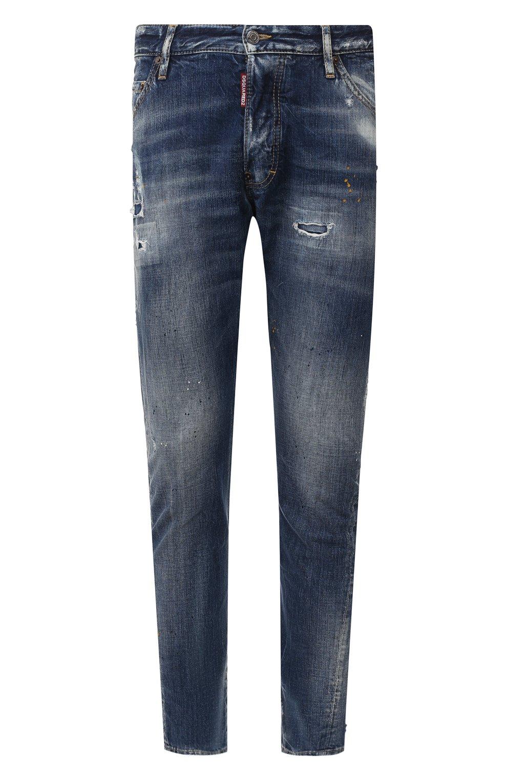 Мужские джинсы DSQUARED2 синего цвета, арт. S74LB0707/S30309 | Фото 1