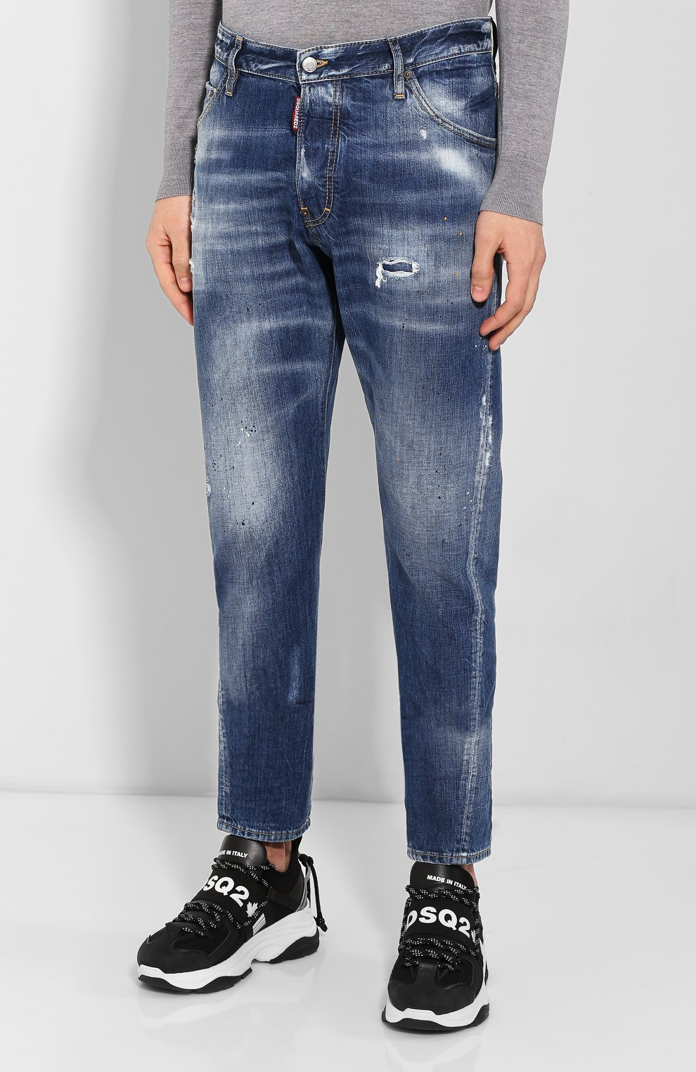 Мужские джинсы DSQUARED2 синего цвета, арт. S74LB0707/S30309 | Фото 3