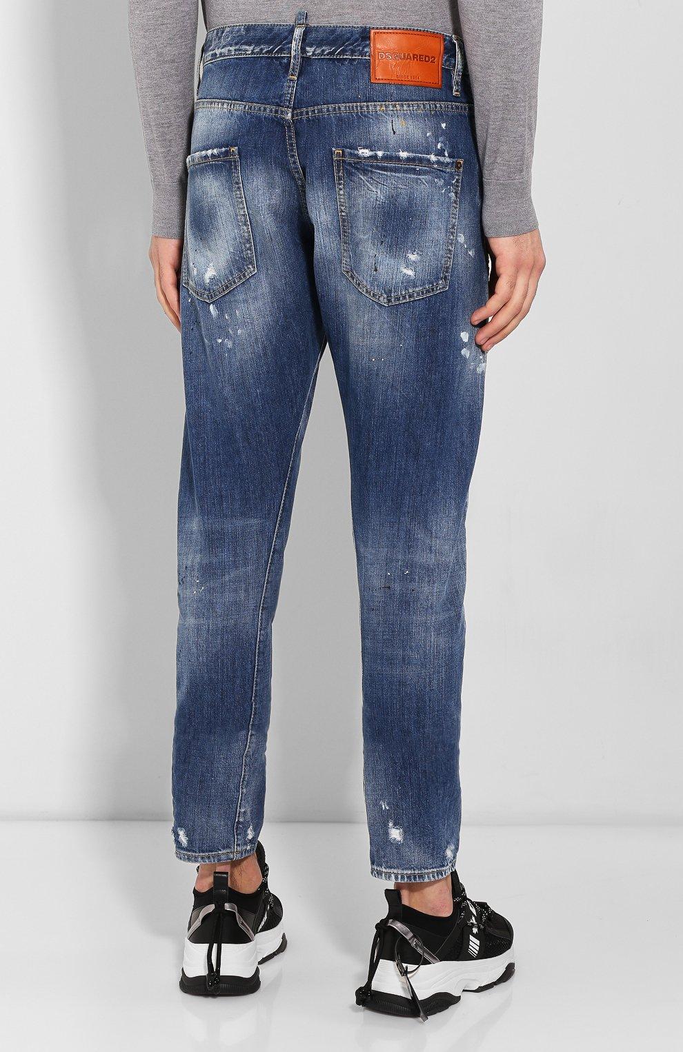 Мужские джинсы DSQUARED2 синего цвета, арт. S74LB0707/S30309 | Фото 4