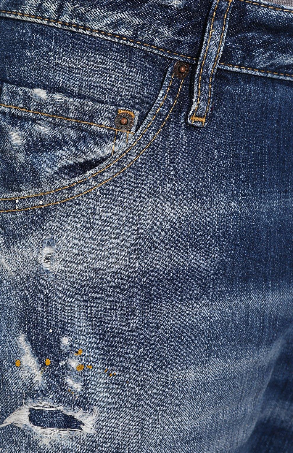 Мужские джинсы DSQUARED2 синего цвета, арт. S74LB0707/S30309 | Фото 5