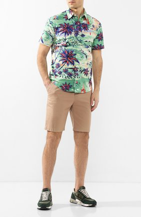 Мужская хлопковая рубашка POLO RALPH LAUREN зеленого цвета, арт. 710794143/4314B | Фото 2