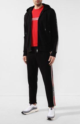 Мужская хлопковая толстовка MONCLER черного цвета, арт. F1-091-8G702-00-V8104 | Фото 2