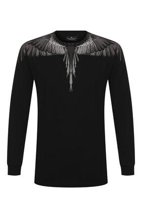 Мужская хлопковый лонгслив MARCELO BURLON черного цвета, арт. CMAB007R20JER002   Фото 1
