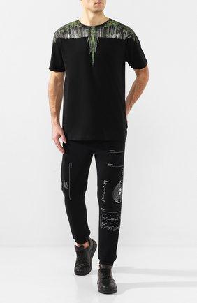 Мужская хлопковая футболка MARCELO BURLON черного цвета, арт. CMAA018R20JER019 | Фото 2