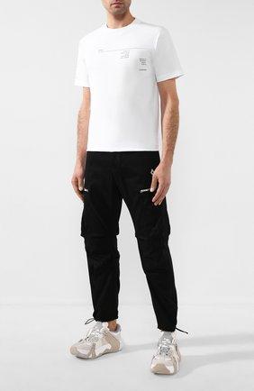 Мужская хлопковая футболка MARCELO BURLON белого цвета, арт. CMAA018R20JER017   Фото 2