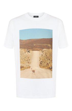 Мужская хлопковая футболка MARCELO BURLON белого цвета, арт. CMAA018R20JER010   Фото 1