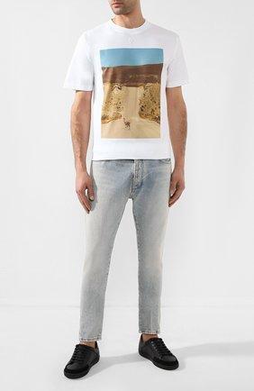 Мужская хлопковая футболка MARCELO BURLON белого цвета, арт. CMAA018R20JER010   Фото 2