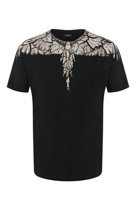 Мужская хлопковая футболка MARCELO BURLON черного цвета, арт. CMAA018R20JER007   Фото 1