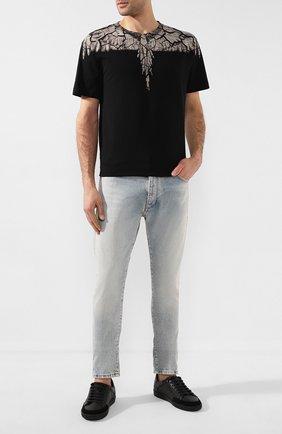 Мужская хлопковая футболка MARCELO BURLON черного цвета, арт. CMAA018R20JER007   Фото 2