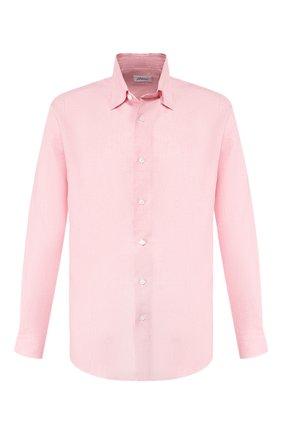 Мужская льняная рубашка BRIONI светло-розового цвета, арт. SCAY0L/P9111 | Фото 1