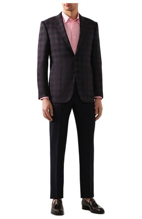 Мужская льняная рубашка BRIONI светло-розового цвета, арт. SCAY0L/P9111 | Фото 2