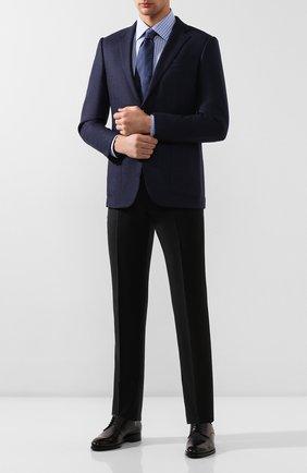 Мужская хлопковая сорочка BRIONI голубого цвета, арт. RCLT0L/P90D4   Фото 2