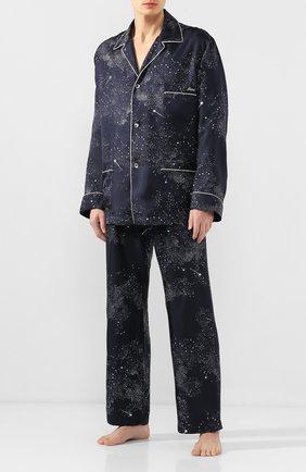 Мужская шелковая пижама BRIONI темно-синего цвета, арт. NBP30L/P943N | Фото 1
