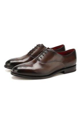 Мужские кожаные оксфорды BARRETT темно-коричневого цвета, арт. 191U006.8/BETIS CREAM | Фото 1
