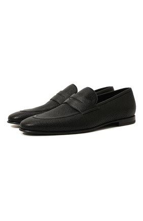 Мужские кожаные пенни-лоферы BARRETT черного цвета, арт. 131U016.3/CERV0 ACC. F0.45312 | Фото 1