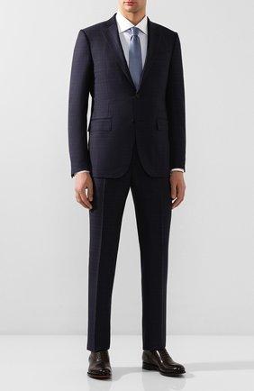 Мужской шерстяной костюм ERMENEGILDO ZEGNA темно-синего цвета, арт. 722051/221225 | Фото 1