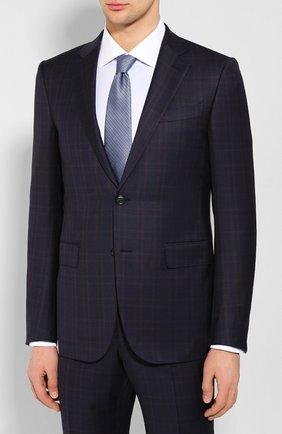 Мужской шерстяной костюм ERMENEGILDO ZEGNA темно-синего цвета, арт. 722051/221225 | Фото 2