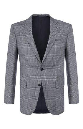 Мужской пиджак из смеси шелка и шерсти ERMENEGILDO ZEGNA голубого цвета, арт. 749067/121220 | Фото 1