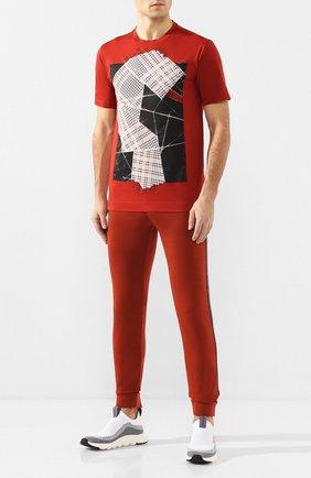 Мужская хлопковая футболка Z ZEGNA оранжевого цвета, арт. VU372/ZZ630E | Фото 2