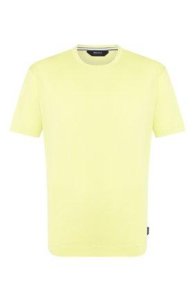 Мужская хлопковая футболка Z ZEGNA желтого цвета, арт. VU372/ZZ650 | Фото 1