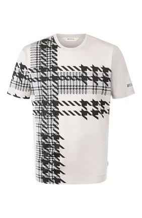 Мужская хлопковая футболка Z ZEGNA серого цвета, арт. VU372/ZZ650G   Фото 1