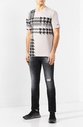 Мужская хлопковая футболка Z ZEGNA серого цвета, арт. VU372/ZZ650G   Фото 2