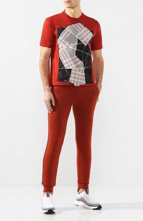 Мужские шерстяные джоггеры Z ZEGNA красного цвета, арт. VU475/ZZTP34   Фото 2