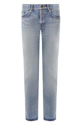 Мужские джинсы SAINT LAURENT голубого цвета, арт. 597052/YM372 | Фото 1