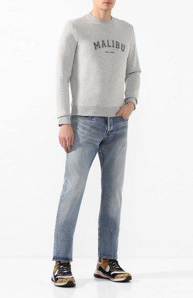 Мужские джинсы SAINT LAURENT голубого цвета, арт. 597052/YM372 | Фото 2