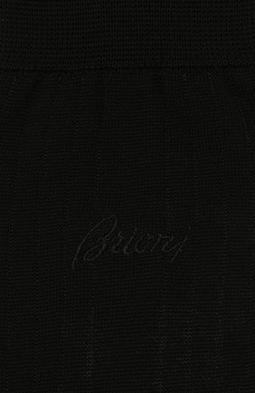 Мужские носки из смеси хлопка и шелка BRIONI темно-синего цвета, арт. 0VMC00/P9Z04 | Фото 2