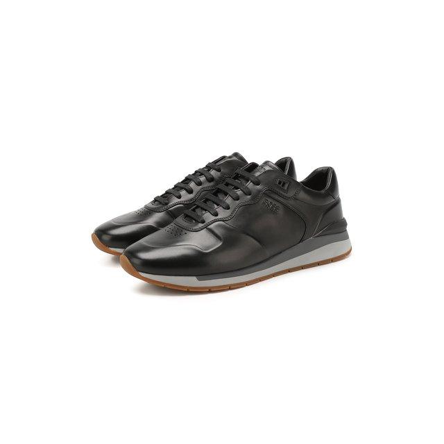 Кожаные кроссовки BOSS — Кожаные кроссовки