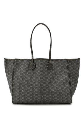 Мужская текстильная сумка-шопер MOREAU темно-серого цвета, арт. JT0TLLJJ0BBNSTB | Фото 1