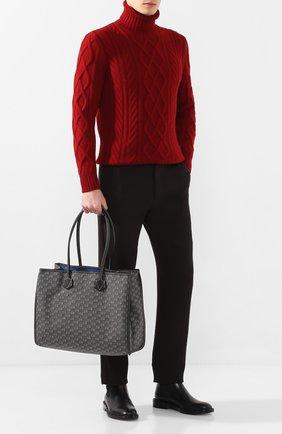 Мужская текстильная сумка-шопер MOREAU темно-серого цвета, арт. JT0TLLJJ0BBNSTB | Фото 2