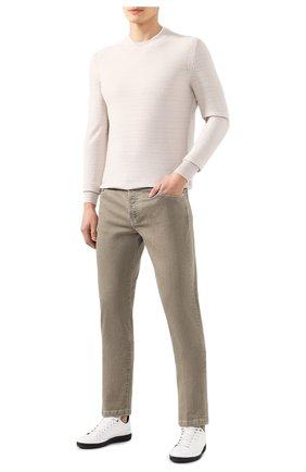 Мужские джинсы KITON бежевого цвета, арт. UPNJSJ07S61 | Фото 2